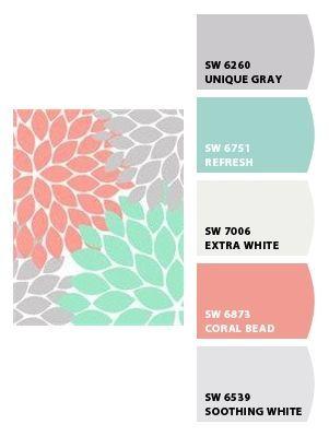 coral aqua nursery colours and aqua on pinterest. Black Bedroom Furniture Sets. Home Design Ideas