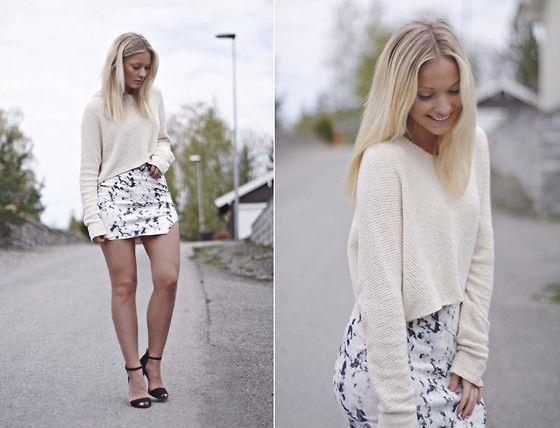 Zara Sweater, Zara Heels, Zara Skirt
