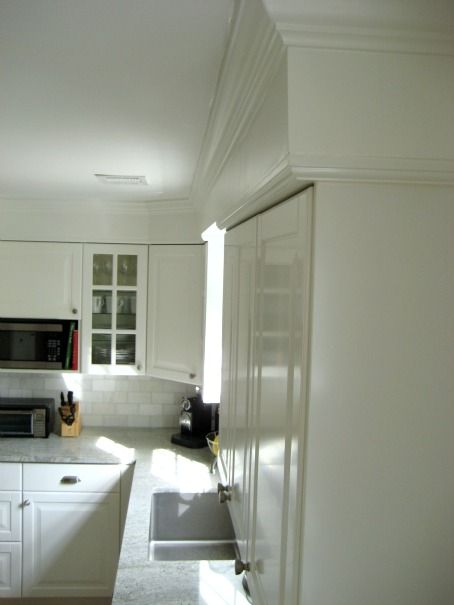 Ikea Lidingo Kitchen Installation with Crown Molding   Dining room ...