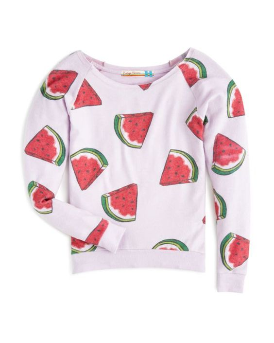 Vintage Havana Girls' Watermelon Print Pullover - Sizes S-xl