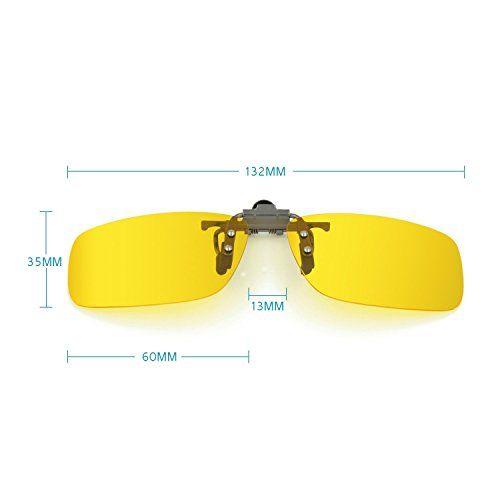 Nacht Vision Blendschutz Fahrbrille Clip Aufsatz Houson Brille Aufsatz Fur Kurzsichtigkeit Sonnenbrille Clip Auf Nachtsicht Polarisierte Glaser Anti Glare Uv400