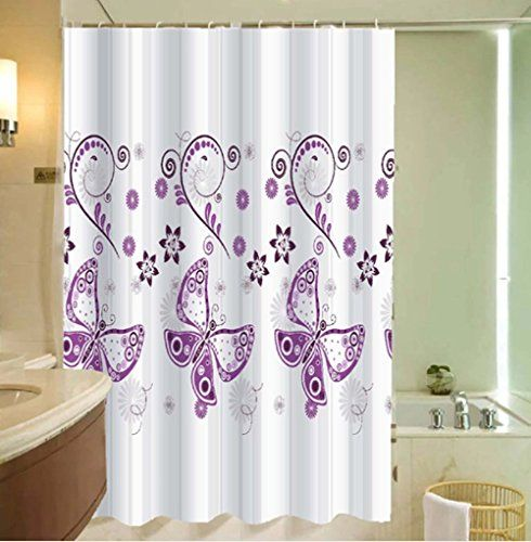 Pin By Audrey Williams On Spa Butterfly Shower Curtain Purple