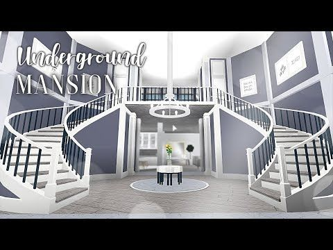 Roblox Bloxburg Underground Mansion Youtube House Blueprints Modern Family House Home Building Design