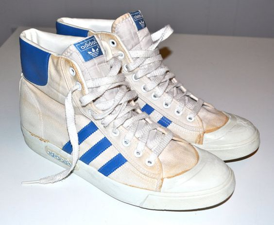 ADIDAS 1980s Vintage High Top Sneakers Basketball by louise49, $95.00