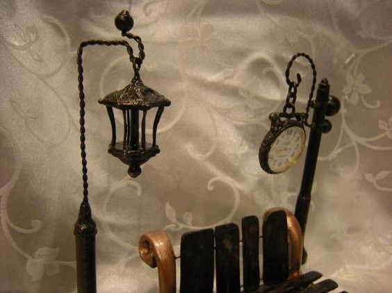 "Часы ""В парке"" - Ярмарка Мастеров - ручная работа, handmade"