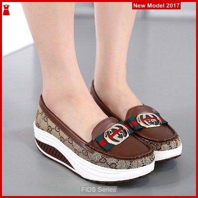 Fids015 Sepatu Wanita Gucci Coklat Nike Sepatu Perempuan Sepatu