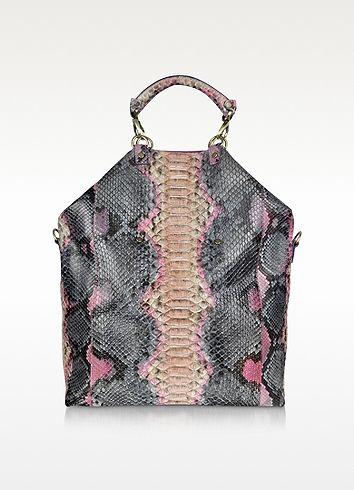 Ghibli Large Python Leather Tote Bag
