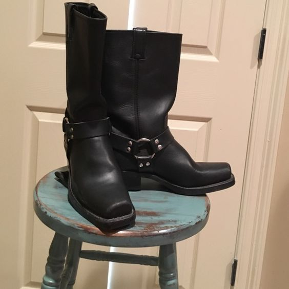 FRYE BUCKLE BOOTS  * Authentic FRYE leather with minimal wear. Frye Shoes Combat & Moto Boots