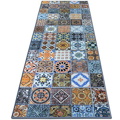 Teppichlaufer Bonita Patchwork Muster Im Vintage Look Viele Grossen Moderner Teppich Laufer Fur Flur Kuche Schlafzimmer Teppich Flur Flur Laufer Teppich