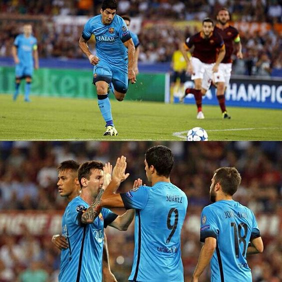 """Luis Suárez: """"We did all we could to win, but we didn't have any luck. We can't look for excuses""""  Suárez: """"Hem fet tot el possible per guanyar, però no hem tingut sort. No hem de buscar excuses""""  Suárez: """"Hicimos todo lo posible para ganar, pero no tuvimos suerte. No hay que buscar excusas""""  @luissuarez9 @fcbarcelona #RomaFCB #UCL"""