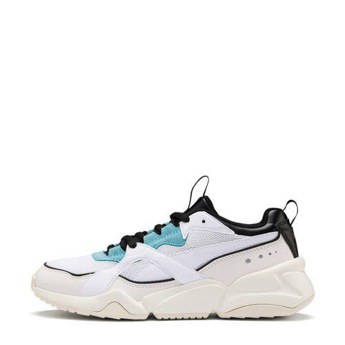 Puma Nova 2 sneakers wit/lichtblauw/zwart | Sneaker ...