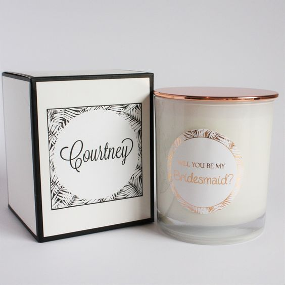 Image of Bridesmaid Proposal Candle: