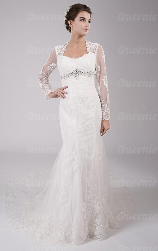 Queeniebridaldress.co.uk:Cheap Long Luxury Backless Wedding Dress HSNBL0007