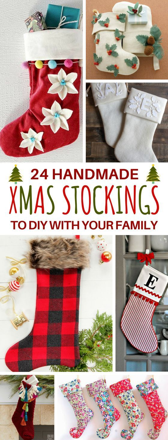 These 24 Diy Christmas Stocking Ideas Are The Perfect Way To Spend More Time With Family B Christmas Stockings Diy Cute Christmas Stockings Decorated Stockings