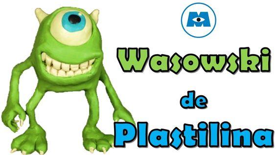 Como hacer a mike wasausky de plastilina / how to make a clay mike wazowski
