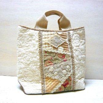 白いバラのトートバッグ[1]