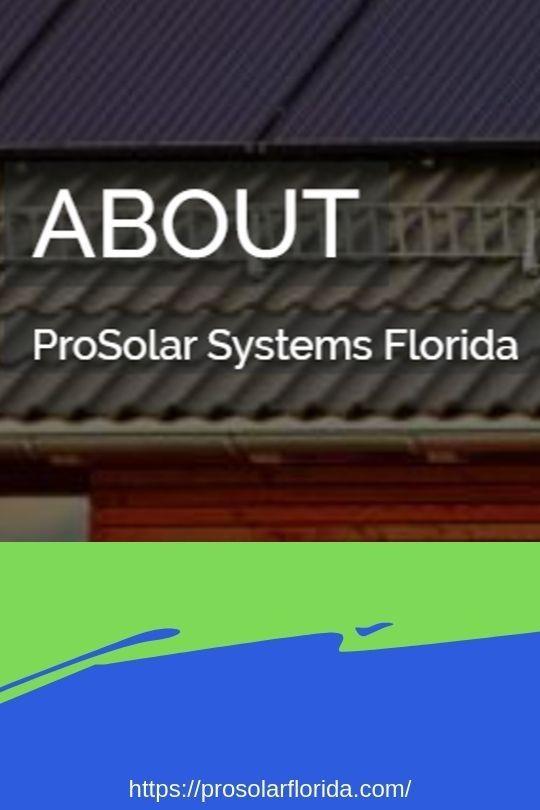 Prosolar Florida Residential And Commercial Solar Energy Systems Solar Energy Solutions Solar Energy Solar