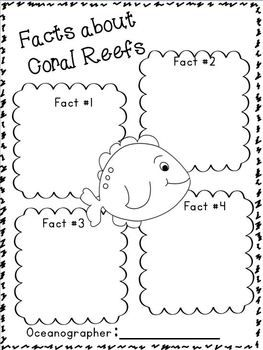 "Ocean ""Research"" w/ Ocean Animals ""Research"" Writing w/ Literacy and Math activities.  Freebie in the download preview!"