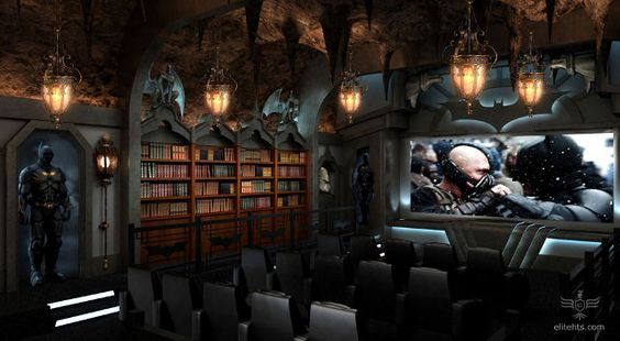 Batcave home theatre. Too cool!! :-)
