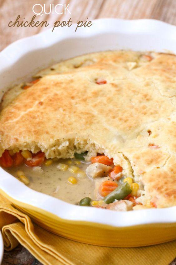 Quick and delicious chicken pot pie recipe a great for Quick and delicious dinner recipes