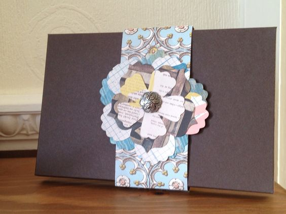 Card box made using Stampin Up! Envelope Punch Board and Venetian Romance DSP in class by Nic Parr, Stampin Up! Demo
