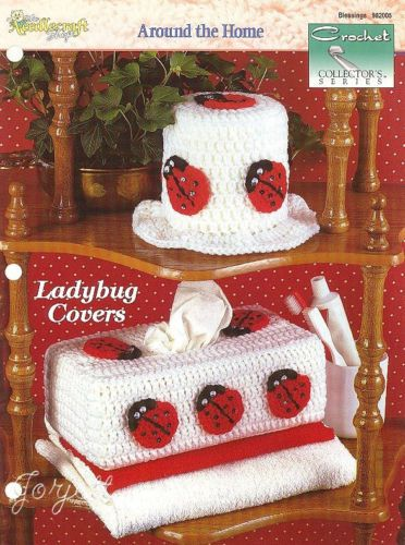 Ladybug Covers Tissue Box Roll Covers Crochet Collector s Patterns | eBay