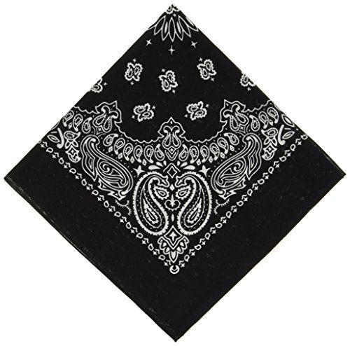 Bandana Kopftuch Schwarz Edelweiß