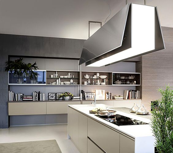 Island hood pedini integra Modern Kitchen Inspiration