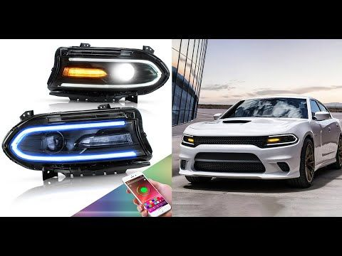 Vland Led Headlights For Dodge Charger 2015 Up Rgb Drl With Sequential T In 2021 2015 Dodge Charger Dodge Charger Charger 2015