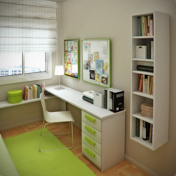 Best Small Study Small Bedrooms And White Bookshelves On Pinterest 640 x 480