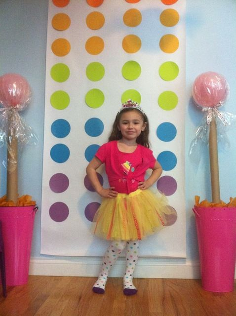 Candy button photo booth backdrop
