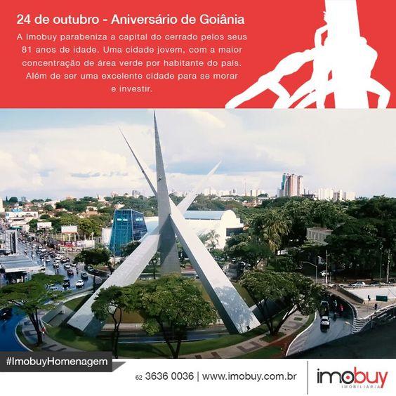 Hoje Goiânia completa 81 anos de desenvolvimento e conquistas. A cada ano mais bela, mais acolhedora e mais florida. Parabéns Goiânia.