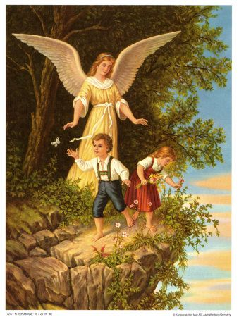 Sois um anjo que me cuida e que me guarda...