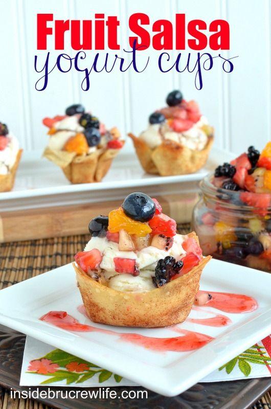 Fruit Salsa Yogurt Cups: Food Recipes, Cups Fruit, Cups Yogurt, Cups Healthychoices, Healthy Fruit, Yogurt Cups, Fruit Salsa