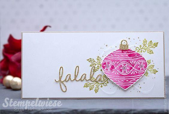 Stampin' Up! - Weihnachtskarte - Falala - Thinlits Im Rahmen - Watercolor - Video - Zauberhafte Zierde ❤︎ Stempelwiese