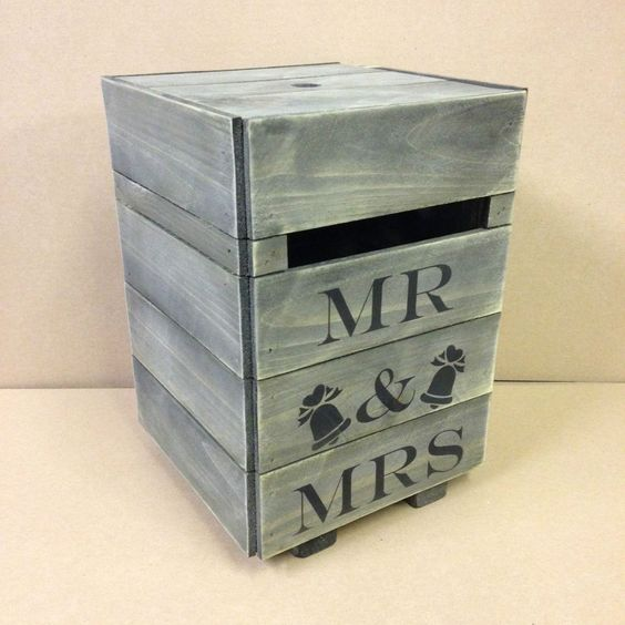 Solid Wood Rustic Wedding Card Post Box Hand Made Suggestions Personalised