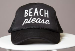 beach-please -- this hat would be great for when I go to Cali!!