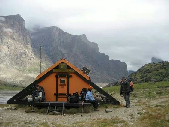 Emergency shelters shelters and posts on pinterest for Small survival cabin