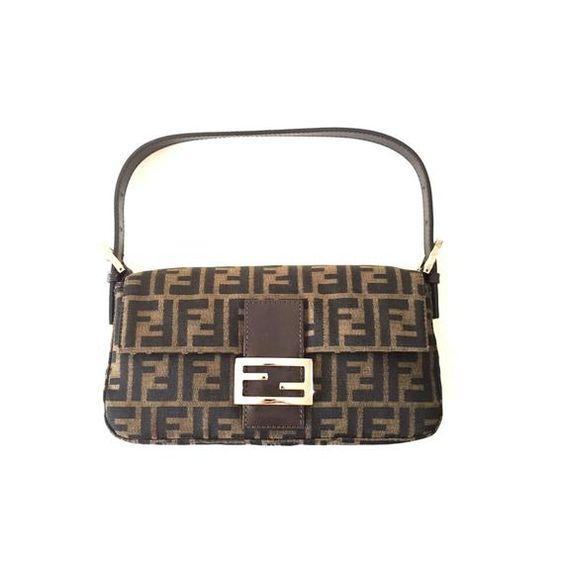 Authentic Vintage Fendi Zucca Baguette Bag Bags Fendi Canvas Bag