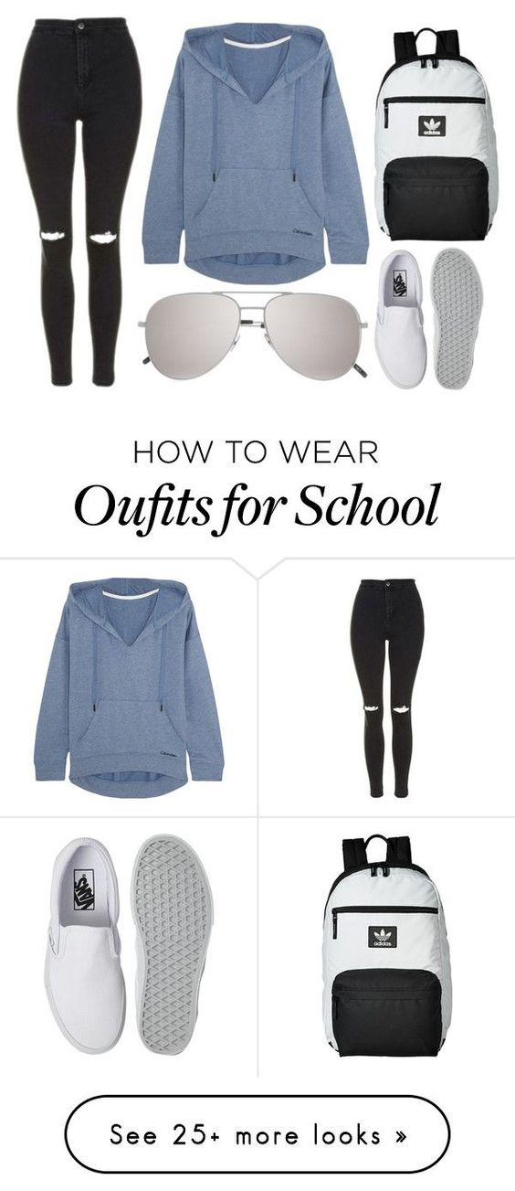 """Back To School"" by sheridan-kelly on Polyvore featuring Vans, adidas, Yves Saint Laurent, Topshop and Calvin Klein Underwear"