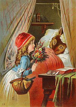 Cuento de hadas - Wikipedia, la enciclopedia libre: Red Riding Hood, Fairy Tales, Redridinghood, Red Ridinghood, Book Illustration, Fairytale, Children S Book