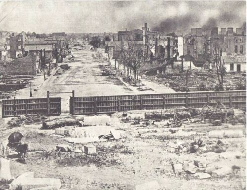 Shermans army burning columbia south carolina from harpers weekly columbia sc main street after shermans march 1865 fandeluxe Choice Image