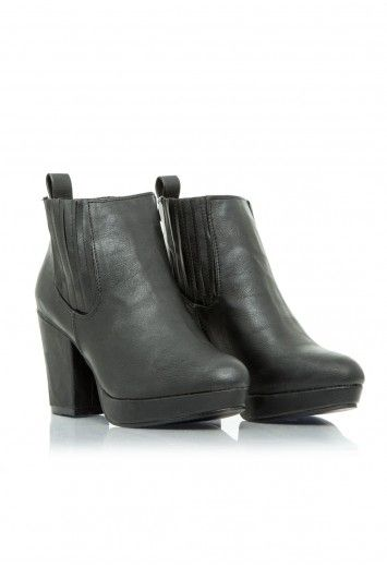 Christie Leather Platform Chelsea Boots - Footwear - Boots - Missguided