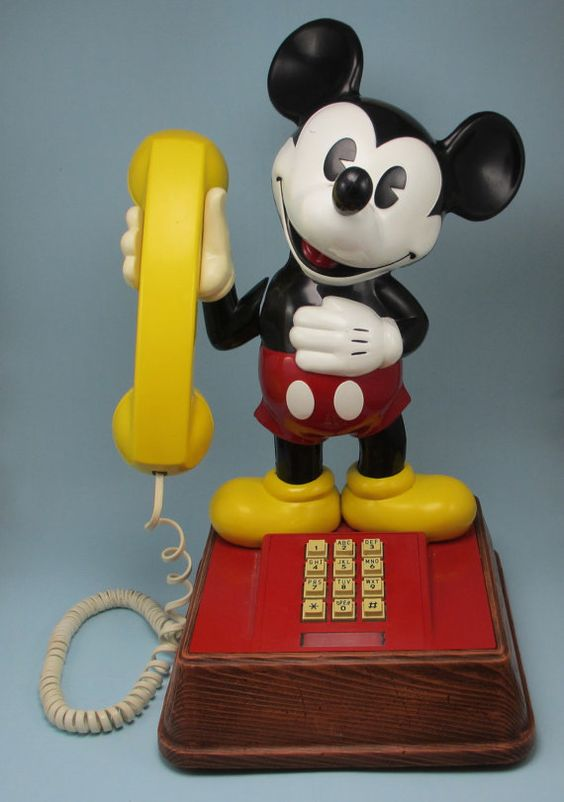 Mickey Mouse Phone  1976 . When I was on the phone .. It was always on this phone .. In middle school