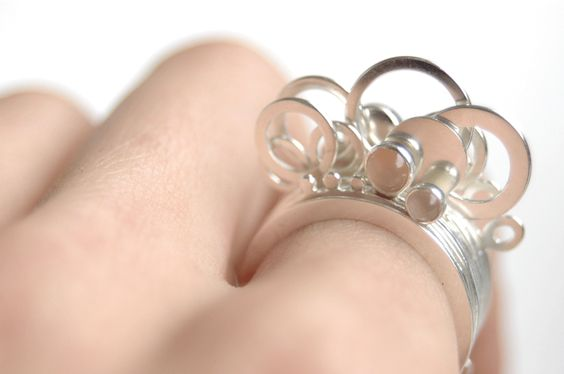 Colleen Baran - cloud series (11 stackable rings)