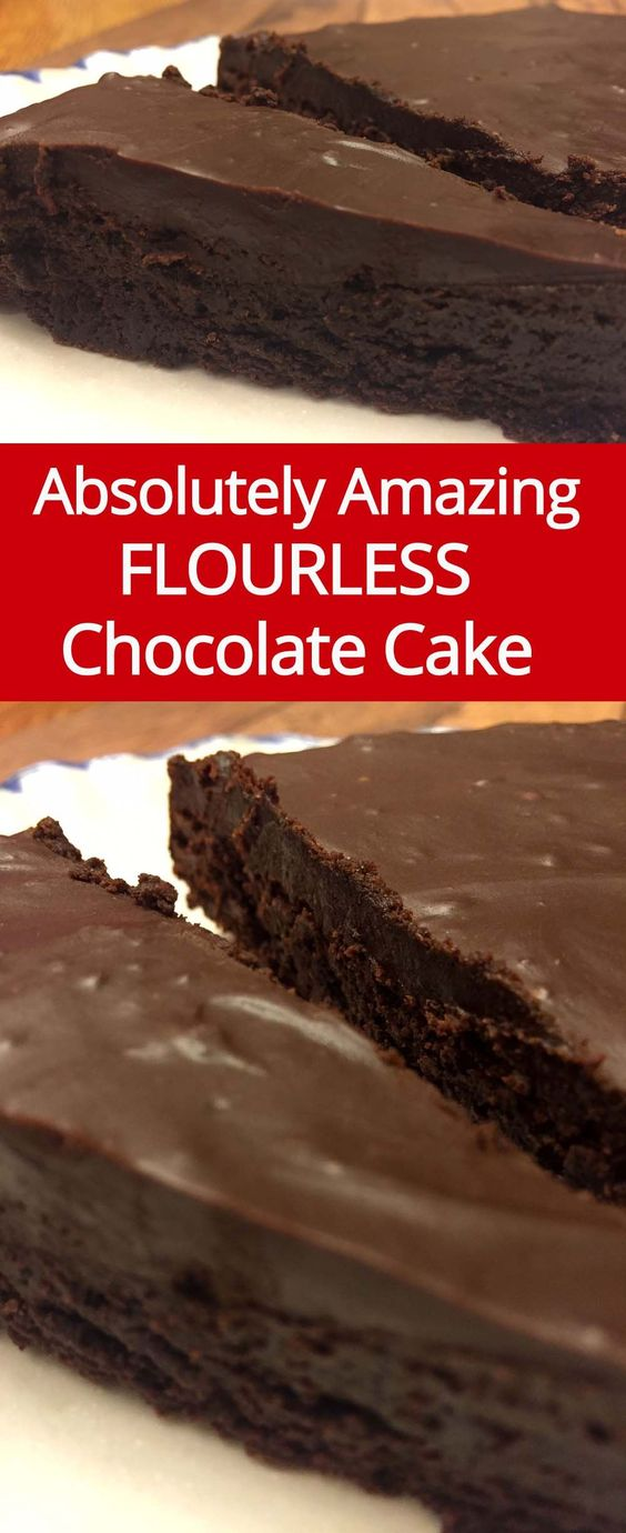 Flourless Chocolate Cake Recipe - use Gentle Sweet in place of sugar to make this a THM-S dessert.