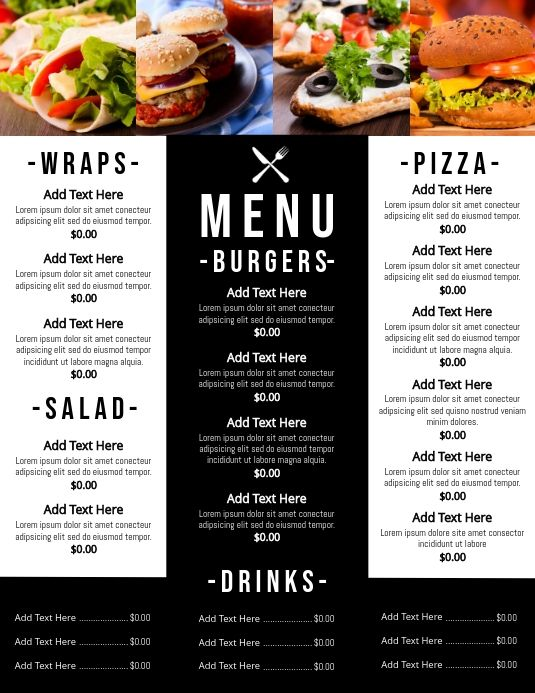Menu Templates In 2020 Grilling Menu Pizza Menu Menu Restaurant