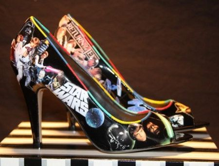 My husband hates when I buy shoes but these he may buy for me. Star wars shoes, perfect for the girl with the star wars nut ( like me)