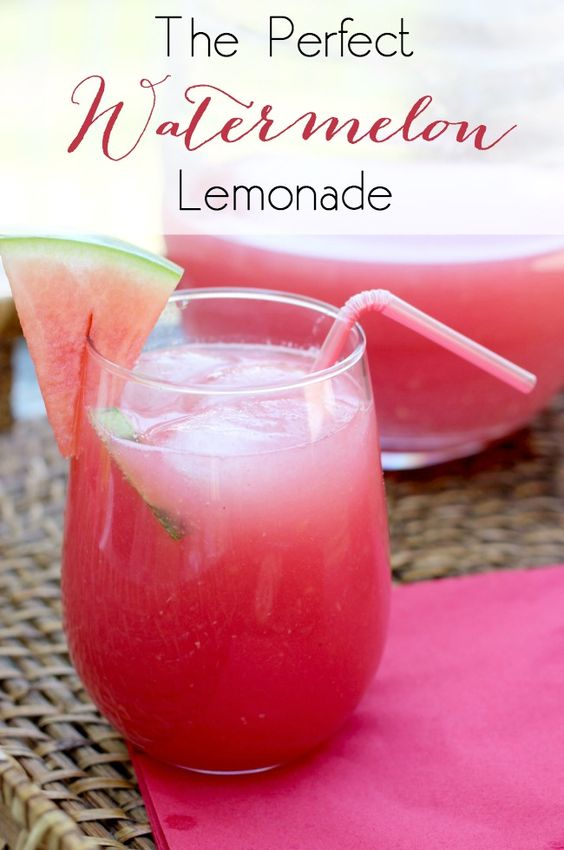 Delicious summer drink! Perfect watermelon lemonade for any summer BBQ, party, or family event!
