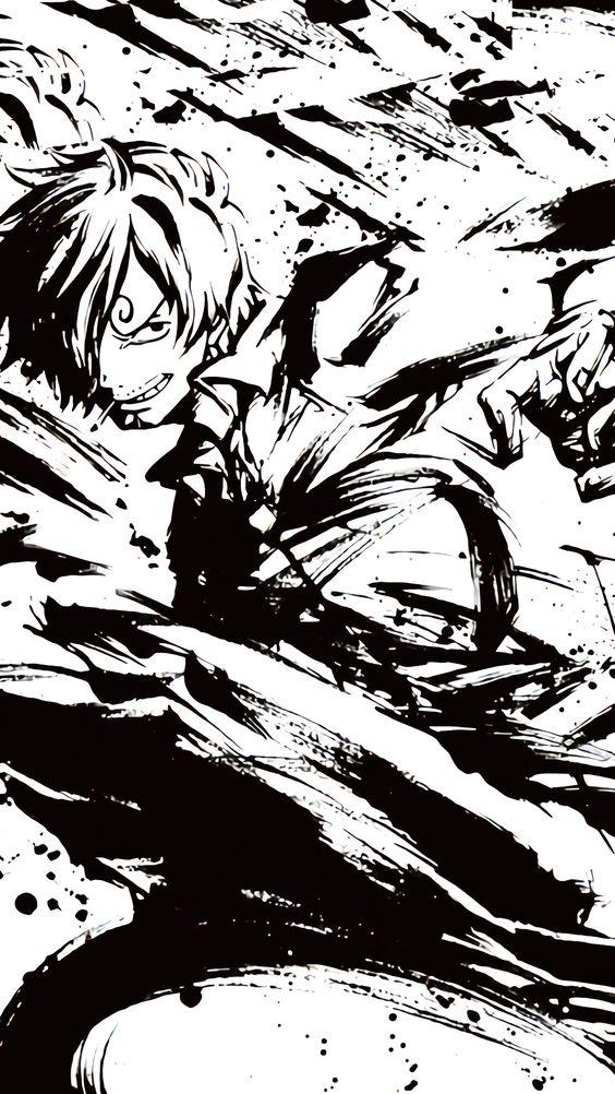 蹴りを繰り出しているサンジの画像